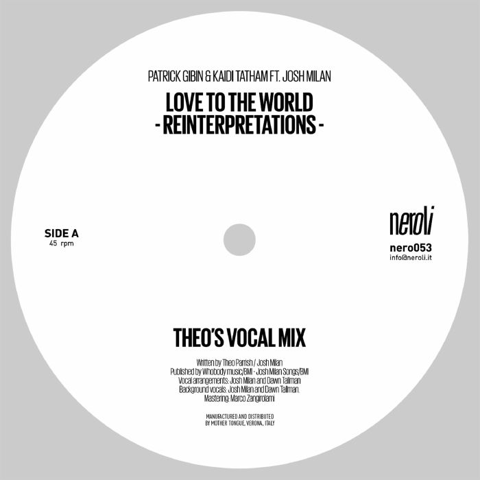 Love To The World (Theo Parrish Reinterpretations)