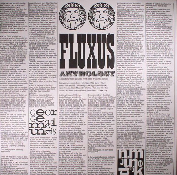 Maurizio Nannucci Fluxus Anthology: A Collection Of Music and Sound Events