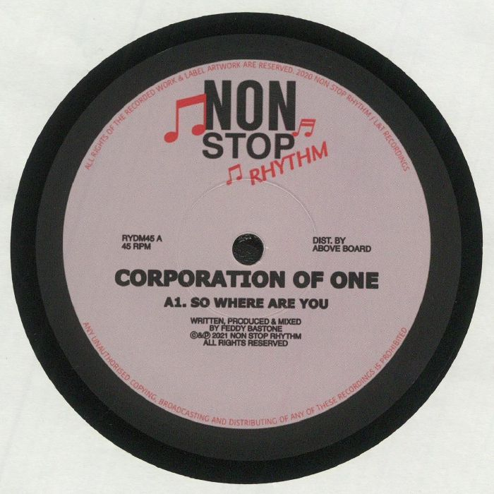 Corporation Of One So Where Are You