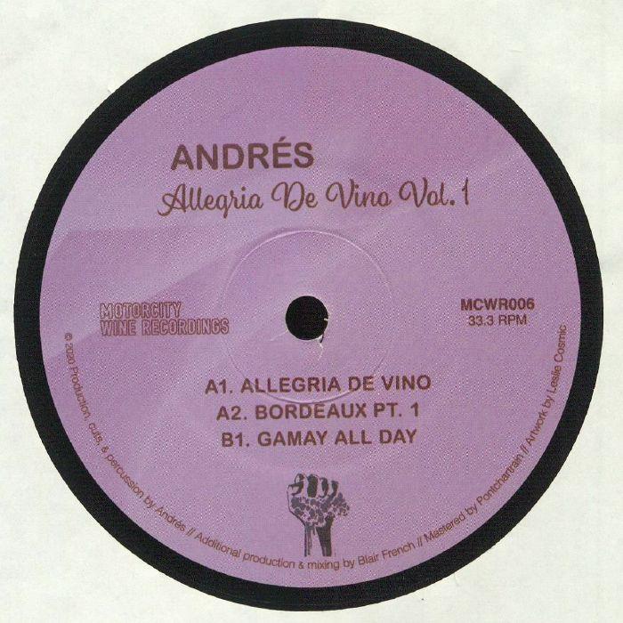 Andres Allegria De Vino Vol 1