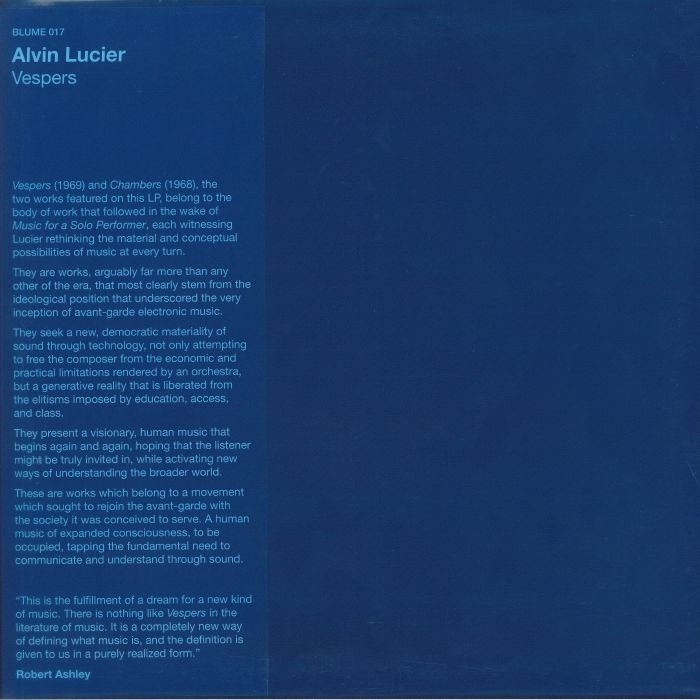 Alvin Lucier Vespers