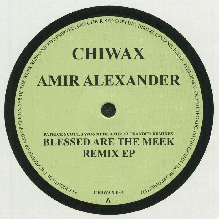 Amir Alexander Blessed Are The Meek remix EP