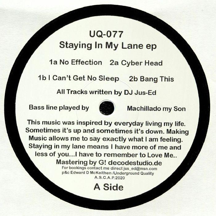 DJ Jus Ed Staying In My Lane EP