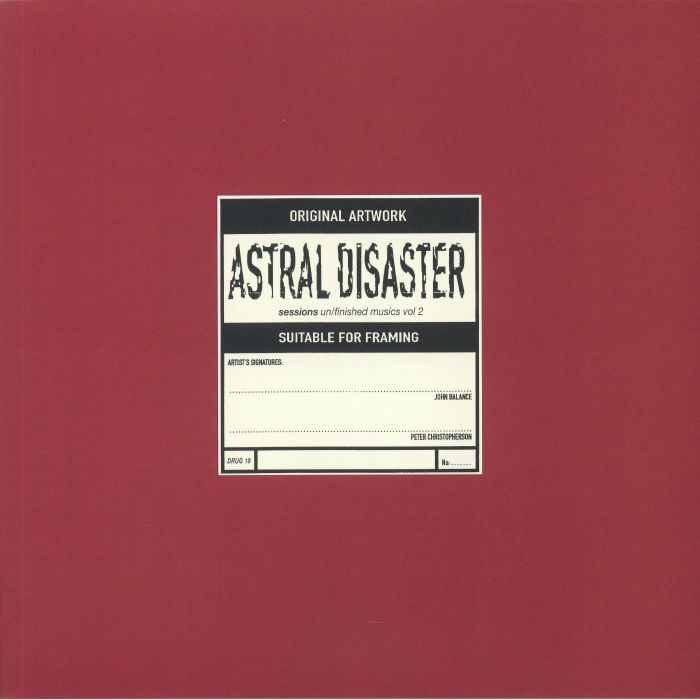 Coil Astral Disaster Sessions: Un/Finished Musics Vol 2