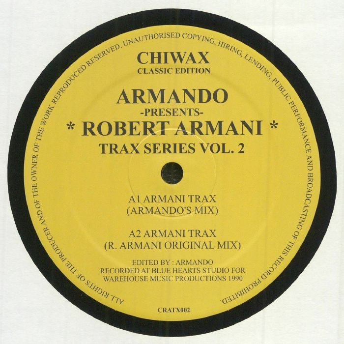 Armando | Robert Armani Trax Series Vol 2