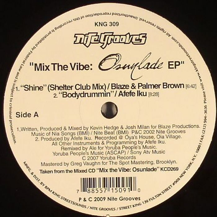 Mix The Vibe: Osunlade EP